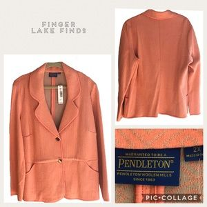 NWT Coral Double Knit Blazer from Pendleton, 2X